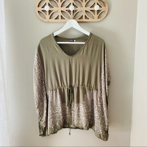 Earthbound Pullover Blouse Green Small